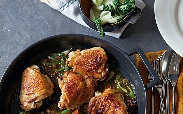 Soy-braised chicken thighs with star anise recipe