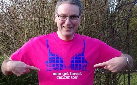 'I was aware that men got breast cancer, but I didn't think it would happen to me'