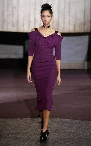 Sexy confidence from Roland Mouret, as the man who created that Galaxy Dress returns to London Fashion Week