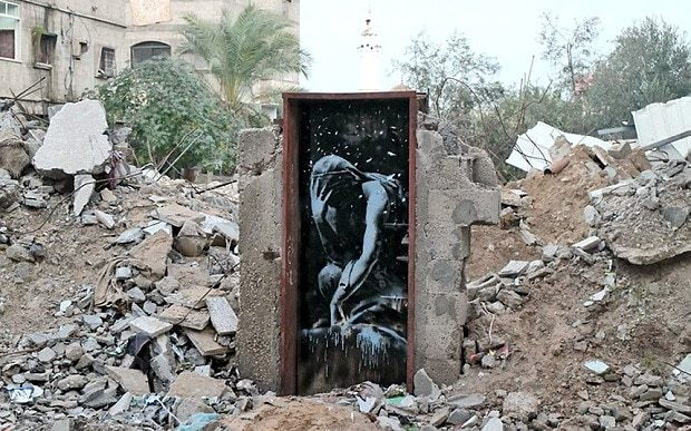 Banksy art work on Gaza door confiscated from Palestinian who bought it