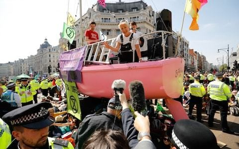 Dear Extinction Rebellion: your aims are worthy, but take your pink boat to China instead