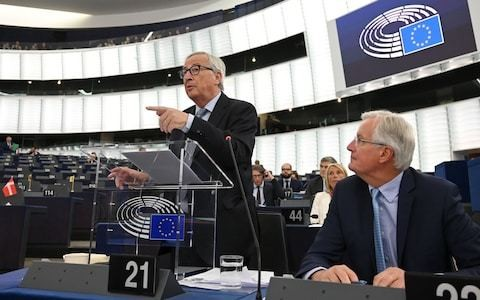 Juncker tells Johnson to 'spell out' Brexit backstop plan, as Barnier warns time for fake negotiations is over