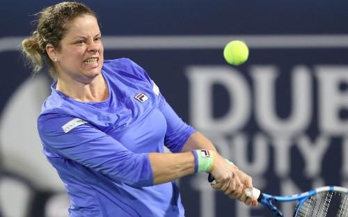 Kim Clijsters impresses despite comeback defeat to Garbine Muguruza at Dubai Championships