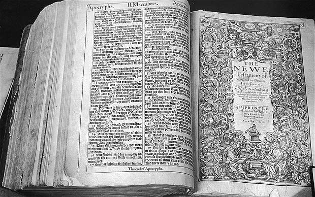 First draft of King James Bible 'found in neglected notebook'