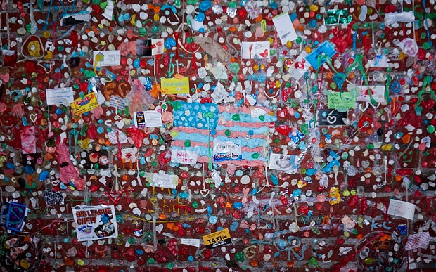 Seattle's famous chewing gum wall dismantled by cleaning crews