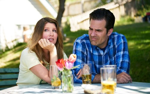 Catastrophe, final episode review: a poignant send-off for Carrie Fisher as vicious rows lead to a happy ending