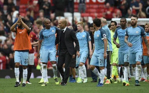 Man Utd 1 Man City 2: Pep Guardiola claims first derby win as City cling on after late onslaught