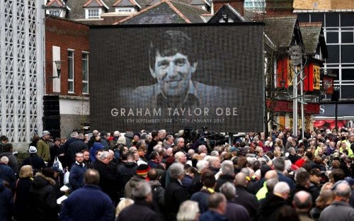 Graham Taylor funeral: Arsene Wenger, Sir Alex Ferguson and John Barnes lead the mourners