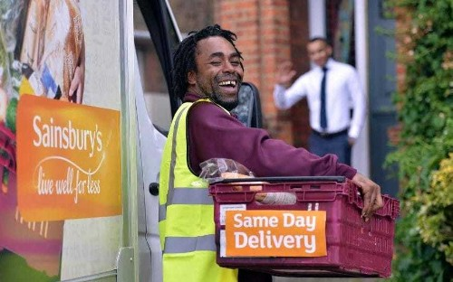 Sainsbury's launches same-day delivery trial to rival Amazon
