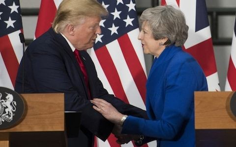 Theresa May to urge Donald Trump to take action against online hate