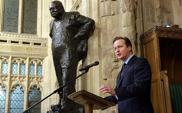 Sir Winston Churchill inspired the whole world, says David Cameron