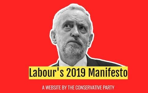 Tories launch spoof website claiming to show Labour manifesto