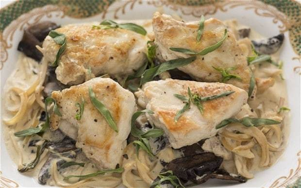 Speedy weeknight suppers: chicken with mushrooms and tarragon