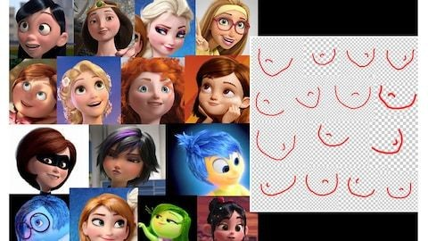 Disney and Pixar's female characters all have the same face