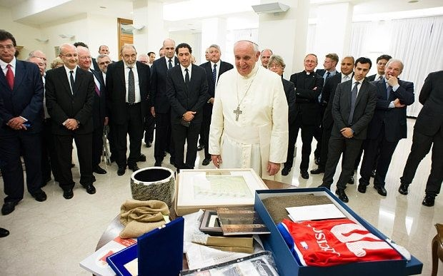 Pope tells Jews: 'now it's our turn' to suffer