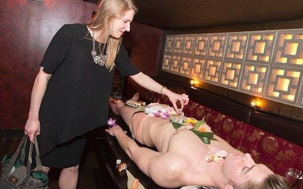 Eating sushi off naked models? A fishy business...