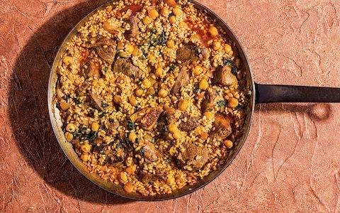 Arroz con cordero (Spanish rice with lamb) recipe