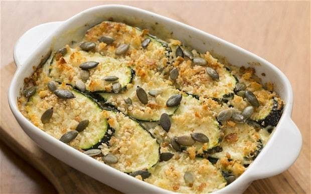 Speedy weeknight suppers: courgette, basil and parmesan gratin