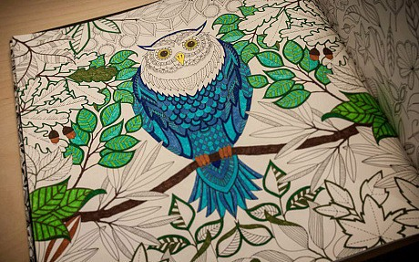 Adults turn to colouring books to fight stress