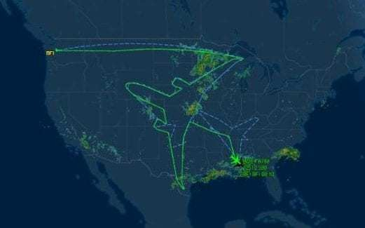 Boeing just drew an enormous aeroplane in the sky