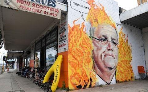 Australian prime minister's approval rating slumps to 37 per cent after bushfires