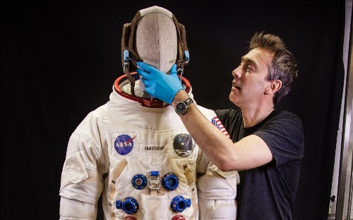 Space toilets, robots and astronaut suits on show to lure millennials into churches to mark moon landing anniversary
