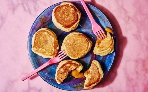 American-style salted caramel pancakes recipe