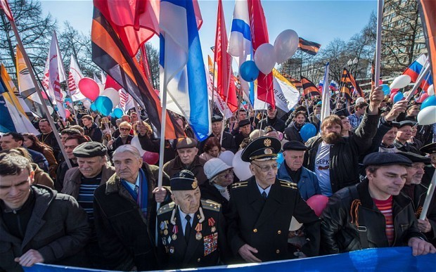 Ukraine crisis: Crimea is just the first step, say Moscow's pro-Putin demonstrators