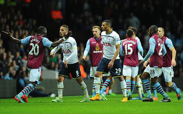 Aston Villa 1 Tottenham Hotspur 2: Harry Kane gives Spurs victory after Christian Benteke sees red
