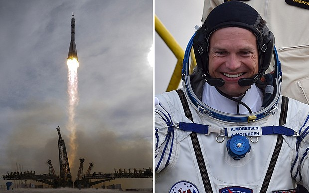 Rocket with Denmark's first astronaut lifts off to space station