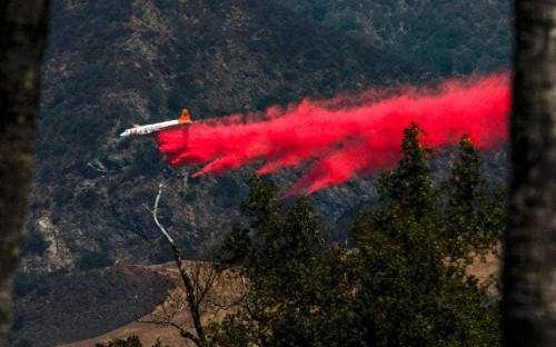 Wildfire in central California closes Hearst Castle