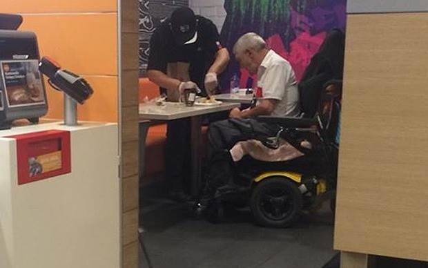 Compassionate McDonald's worker praised for act of kindness