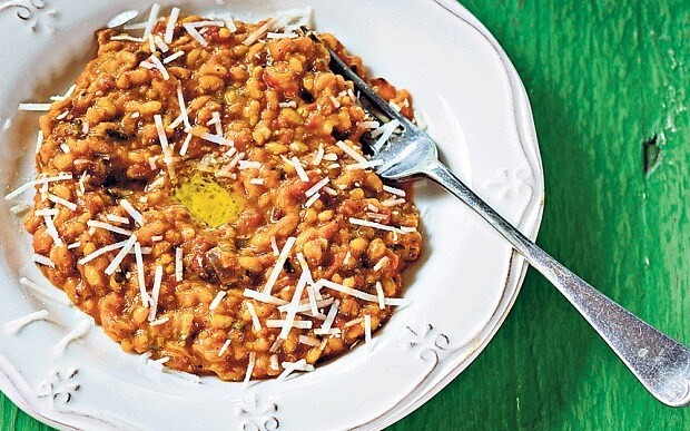 Squash, pancetta and cinnamon risotto recipe