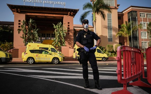 Public health officials launch hunt for British holidaymakers who stayed at locked-down Tenerife hotel