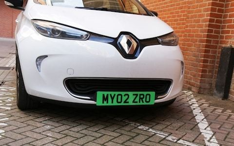 Number plates for eco-friendly cars go green