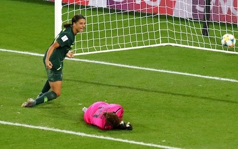 Sam Kerr scores four to hammer Jamaica and keep Australia's World Cup dream alive