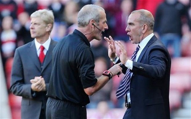 Sunderland manager Paolo Di Canio 'invited' referee Martin Atkinson to send him off against Arsenal