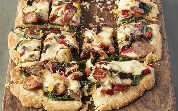 Roasted beetroot tart with thyme, olives and Parmesan recipe