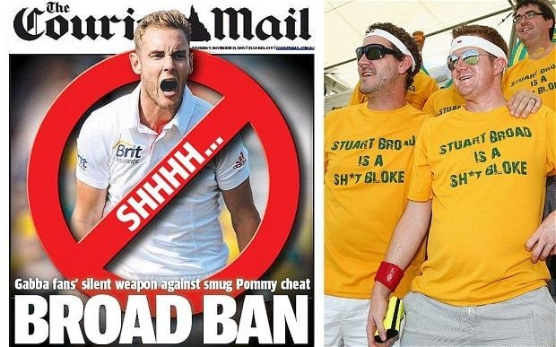 Ashes 2013-14: Stuart Broad carries Courier Mail into press conference and says England are 'silent assassins'