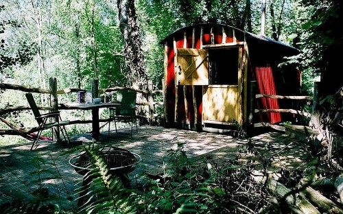 Glamping in Britain: a shepherd's hut in adults-only Crafty Camping, Dorset