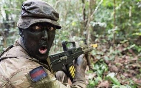 British Army under fire for 'racist' tweet that showed a soldier with black face-paint
