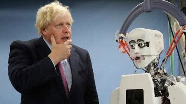 From Maybot to robot: Boris Johnson meets face of state-of-the-art technology on visit to Japan