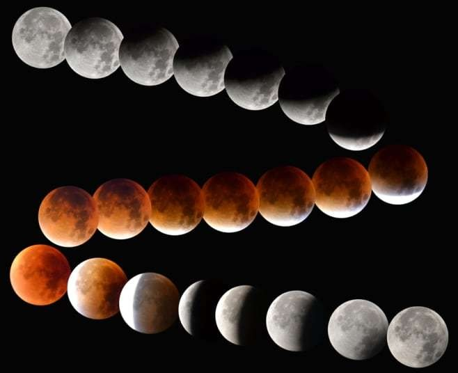 Blood Moon: Total 'supermoon' lunar eclipse photographed by our readers