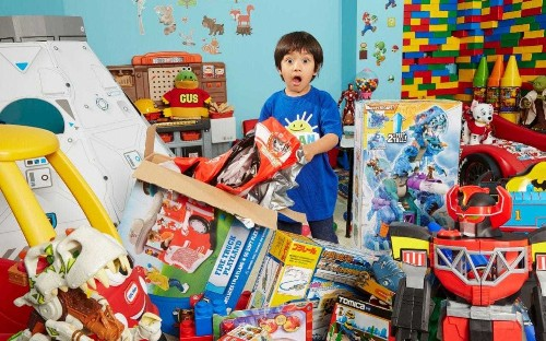 Seven-year-old toy reviewer is YouTube's highest-earning star after making £17m in one year