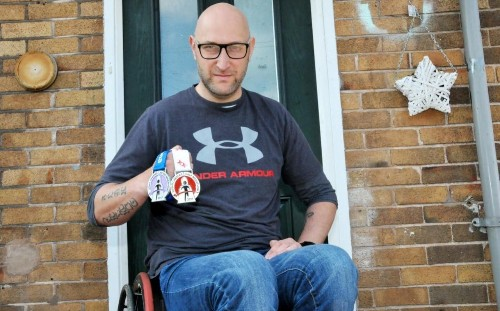 Robbers pick fight with man in a wheelchair, who turned out to be a 6ft 7in tall Afghanistan veteran