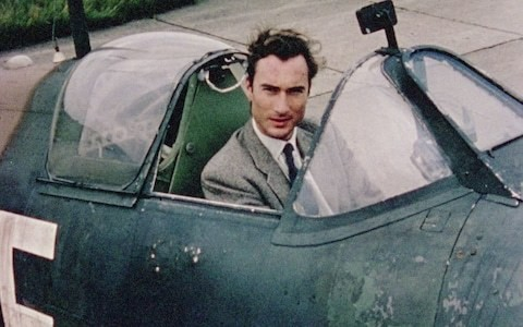 Prince William of Gloucester was filmed on the set of the Michael Caine film Battle of Britain