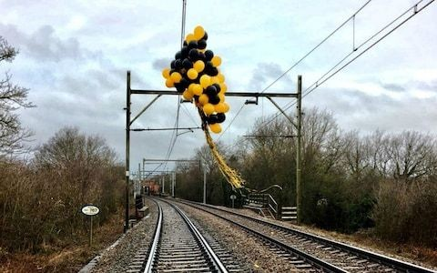 Helium balloons are causing hundreds of train delays a year and costing more than £1m, Network Rail says
