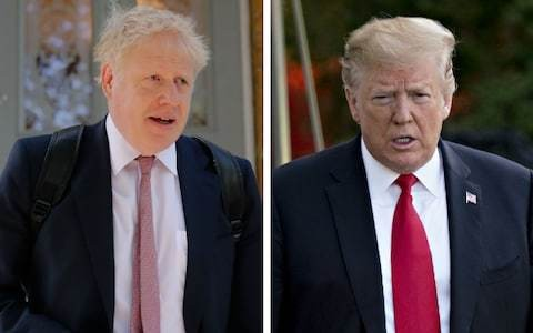 Trump indicates Boris Johnson is his preferred Tory leader with pair expected to meet in London next week