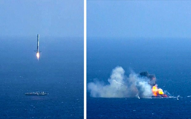SpaceX attempt to recycle Falcon booster rocket fails