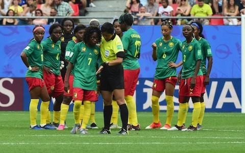 How the referee failed to show Cameroon a red card beggars belief - there should have been three